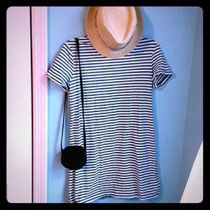 A striped tshirt dress